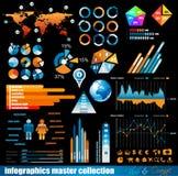 Infographics hoofdinzameling van de premie Royalty-vrije Stock Foto's