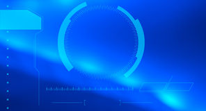 Infographics HUD blue abstract background Stock Image