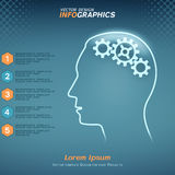 Infographics with human brain concept Royalty Free Stock Image