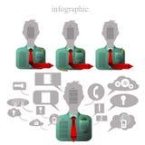 Infographics i form av ansiktslöst folk Royaltyfri Fotografi