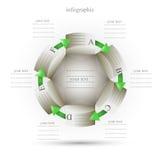 Infographics i form av en cirkel Royaltyfria Foton