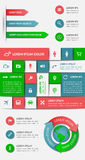 Infographics i sieć elementy Obraz Stock