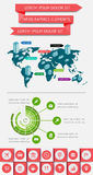 Infographics i sieć elementy Zdjęcia Stock