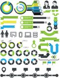Infographics i statystyczni elementy Fotografia Royalty Free