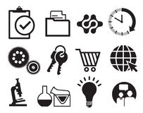 Infographics icon set. A set of infographics icon illustrations on white background Stock Photography