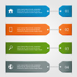 Infographics with icons Royalty Free Stock Photos