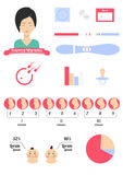 Infographics icons on pregnancy and childbirth Stock Image