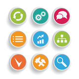 Infographics icons set Stock Photo