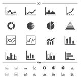Infographics icons vector Royalty Free Stock Image