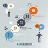 Infographics illustration Royaltyfri Illustrationer