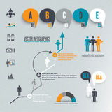 Infographics illustration Royaltyfria Bilder