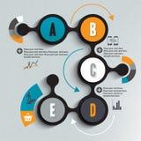 Infographics illustration Vektor Illustrationer