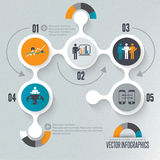 Infographics illustration Royaltyfri Foto