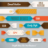 Infographics illustration.Ribbons Royalty Free Stock Photography