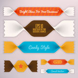 Infographics illustration.Ribbons Stock Images