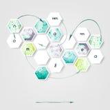抽象创造性的概念传染媒介infographics 企业infographic和社会媒介 传染媒介被说明的设计 免版税库存图片