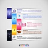 Infographics-infographics Schablone Stockfotos