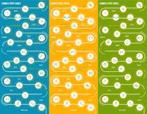 Infographics inspiration of  summer sport games. Royalty Free Stock Images