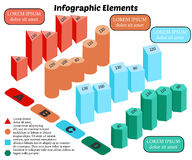 Infographics-15. Isometric Vector Infographic Elements. Business Block Chart on White Background. Basic 3D Shapes vector illustration