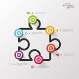 Infographics jigsaw. Vector design template Stock Photos