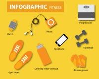 Infographics konditionvektor Arkivfoto