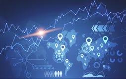 Infographics Konzept, Karte und HUD Lizenzfreie Stockfotos