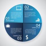 Infographics-Kreispapier Stockfoto