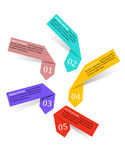 Infographics labels and banners Stock Photos