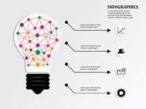 Infographics and lamp idea Royalty Free Stock Image