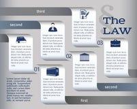 Infographics-lay-out-wettelijk-wet-advocaat Stock Afbeeldingen