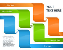 Infographics layout presentation template options step Royalty Free Stock Photo