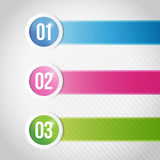 Infographics lines and circles illustration Stock Photos