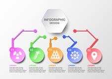 Infographics liso abstrato no conceito da tecnologia Fotografia de Stock Royalty Free