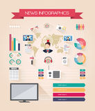 Infographics live news Stock Images
