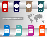 Infographics love World Royalty Free Stock Photography