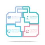 Infographics médico Foto de archivo