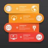 Infographics mínimo Vetor Fotos de Stock Royalty Free