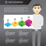 Infographics mall Royaltyfri Bild