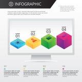 Infographics mall Arkivbild
