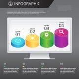 Infographics mall Arkivbilder