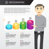 Infographics mall Royaltyfri Foto