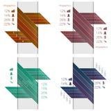 Infographics mall Vektor Illustrationer