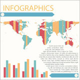 Infographics of a map Stock Image
