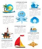 Infographics marin Photographie stock