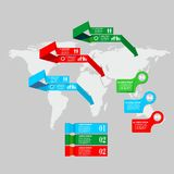 Infographics mark set Royalty Free Stock Image