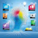 Infographics Marketing Concept. Stock Photo
