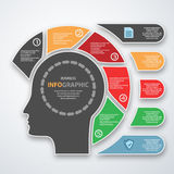 Infographics marketing icons for layout, Royalty Free Stock Images