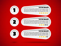 Infographics with menu items and rating Royalty Free Stock Image