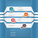 Infographics menu vector design with four options Royalty Free Stock Image