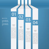 Infographics menu vector design with four options Royalty Free Stock Photography
